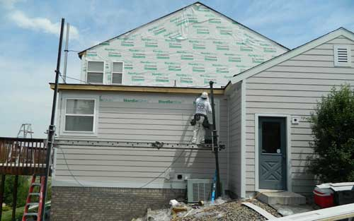 Home siding installation by Mountain View Corporation in Colorado, James Hardie preferred contractor